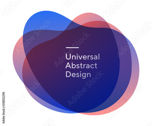 Vászonkép Rounded colorful abstract shapes form