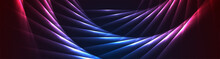 Red And Blue Laser Lines Abstr...