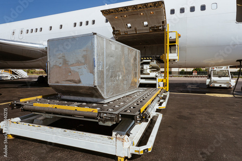 Cargo plane loading Wallpaper Mural