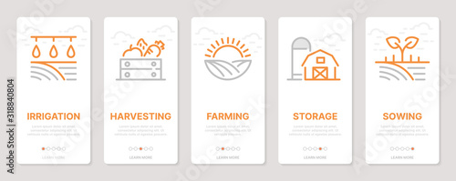 Farming realted vertical cards Canvas