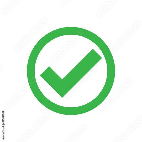 Cuadros en Lienzo check mark icon in trendy flat design