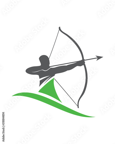 Carta da parati Archer Logo, Digital Archer Logo