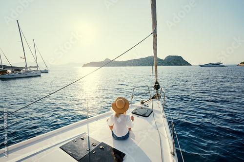 Fotografia Luxury travel on the yacht