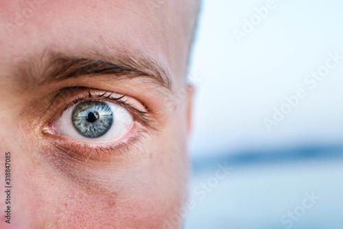 Obraz Close-Up Portrait Of Man - fototapety do salonu