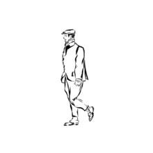 Man In Art Nouveau Style. Fash...