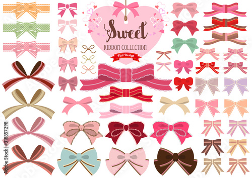 Carta da parati Sweet Ribbon Collection -Flat Design-