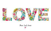Postcard About Love. Cute LOVE...