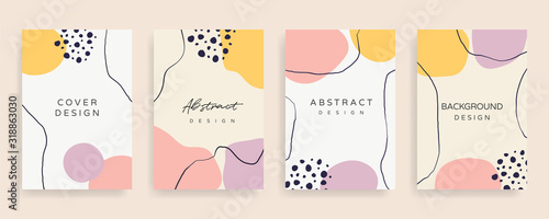 Social media stories and post creative Vector set Canvas Print