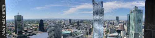 Fototapeta PANORAMIC VIEW OF BUILDINGS IN CITY obraz