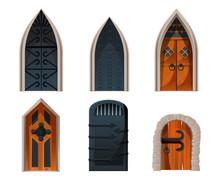 Doors Set, Wooden And Metal Me...