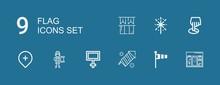 Editable 9 Flag Icons For Web ...