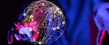 Global Network Concept. 3D Ren...