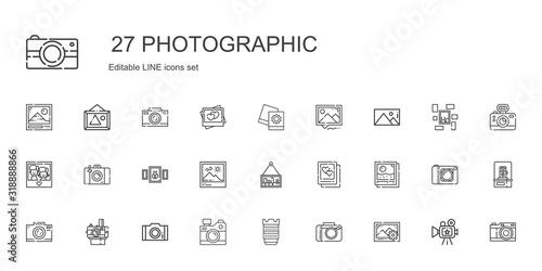 Obraz photographic icons set - fototapety do salonu