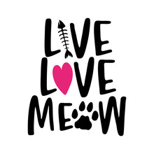 Live Love Meow - Words With Ca...