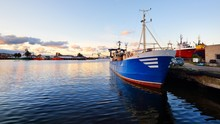 Fishing Boat Fleet At The Port...
