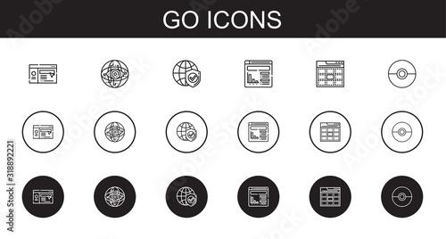 Photo go icons set