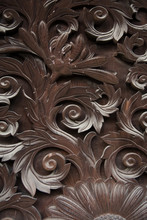 Ancient Ornate Japanese Wood C...