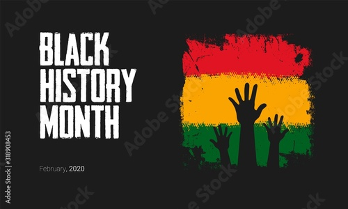 Obraz Black History Month to remember important people and events of the African diaspora banner template. - fototapety do salonu