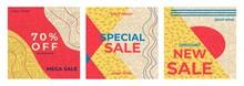 Set Sale Best Offer Banner Tem...