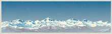 Mountain Winter Landscape With...