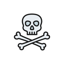 Pirate Skull With Crossbones F...