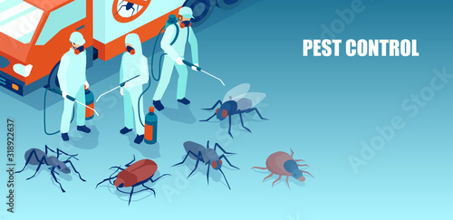 pest control professional team exterminating insects Tableau sur Toile