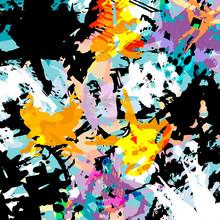 Abstract Colored Graffiti Back...