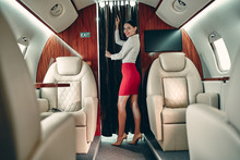 Flight Attedant In Private Jet