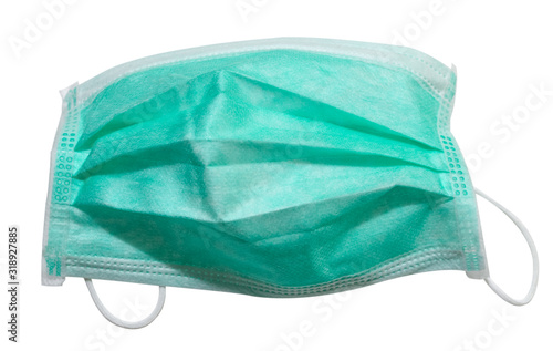 Cuadros en Lienzo Surgical mask with clipping mask isolated on white background