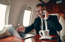 Businessman In Private Jet