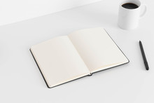 Open Notebook Mockup With A Cu...