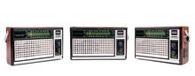 Set Of Retro Radio Receiver Isolated On White Background