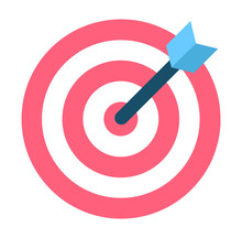 Black Arrow In Center Of Aim, ...