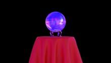 Magic Crystal Ball On Red Tabl...