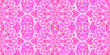 canvas print picture - Allover Pattern Tile Bright Pink