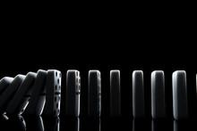 White Dominoes In The Dark Clo...