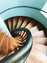 High Angle View Of Spiral Stai...