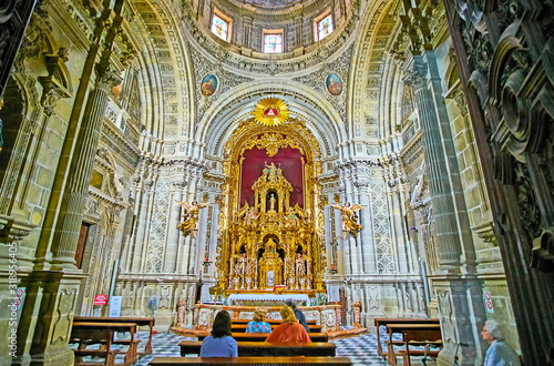 Interior of Chapel in San Miguel Church, Jerez, Spain Wallpaper Mural