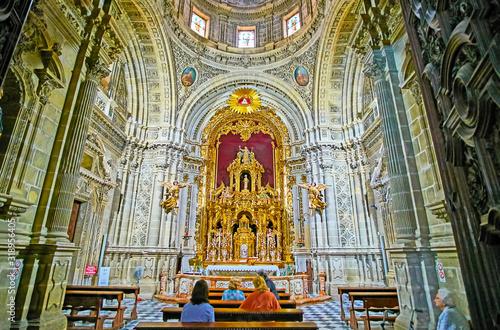 Valokuvatapetti Interior of Chapel in San Miguel Church, Jerez, Spain