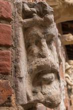 An Old Stone Sculpture, Gargoy...