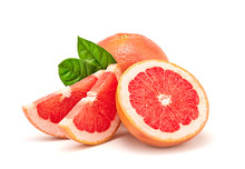 Grapefruit Fruit, Slices, Leav...