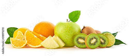 Photo Fresh fruits healthy diet concept