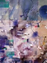 Modern Digital Art. Geometric ...