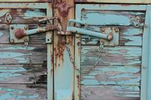 Old Lock On A Door