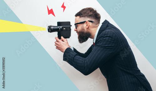 Fotografia, Obraz Filmmaker with a vintage lomo camera