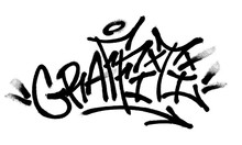 Sprayed Graffiti Font With Ove...