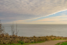 Strato Clouds Above The Dorset Jurasic Coast Path