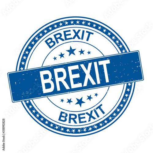 Fotografie, Tablou Brexit stamp. brexit sign. britain leaving eu.
