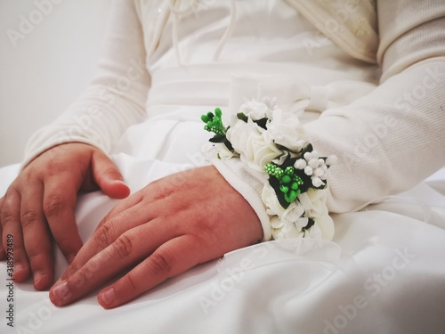 Canvas Midsection Of Bride During Wedding Ceremony