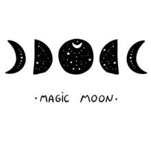 Moon Phase Mystic Astral  Magi...